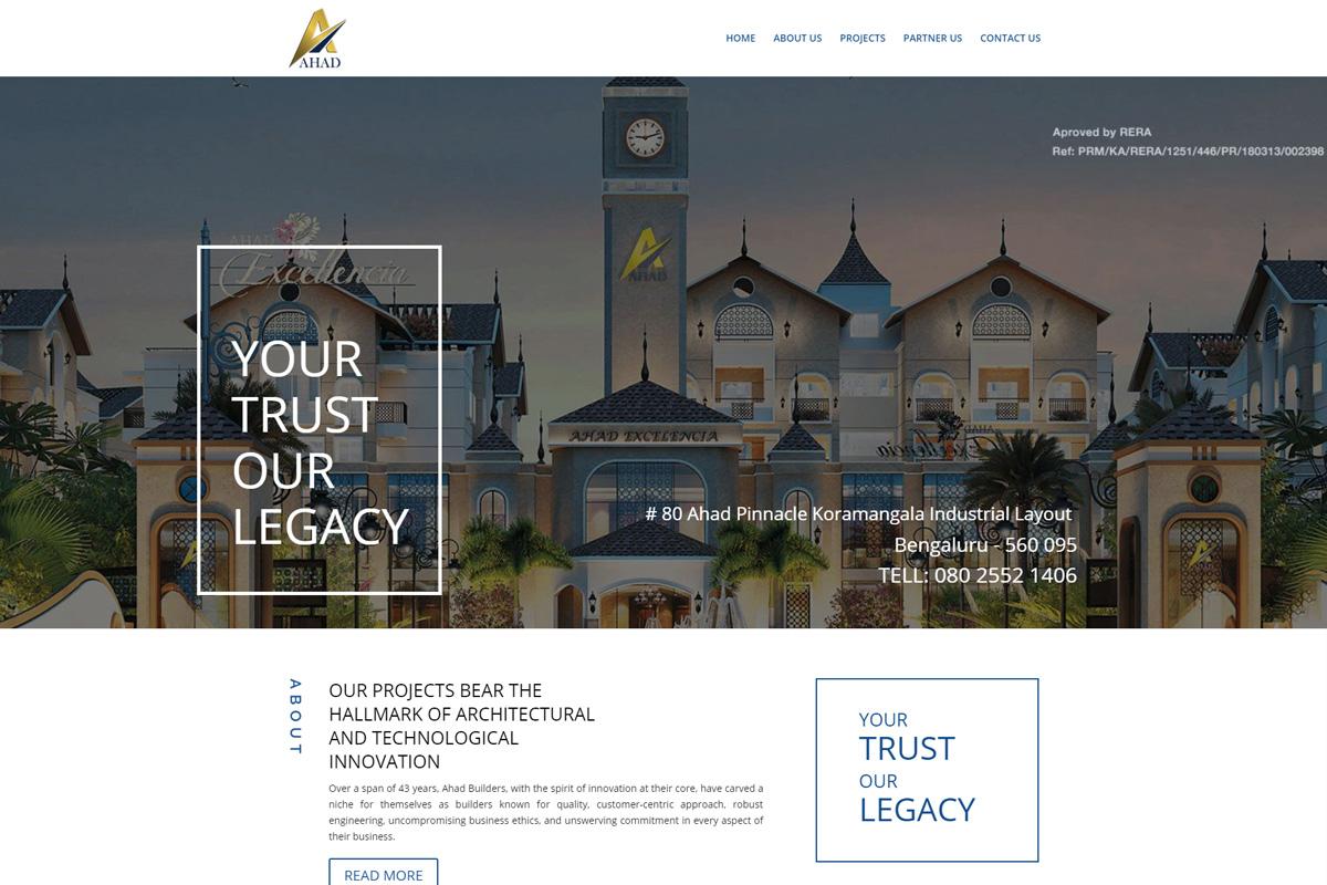 Ahad Builders Website