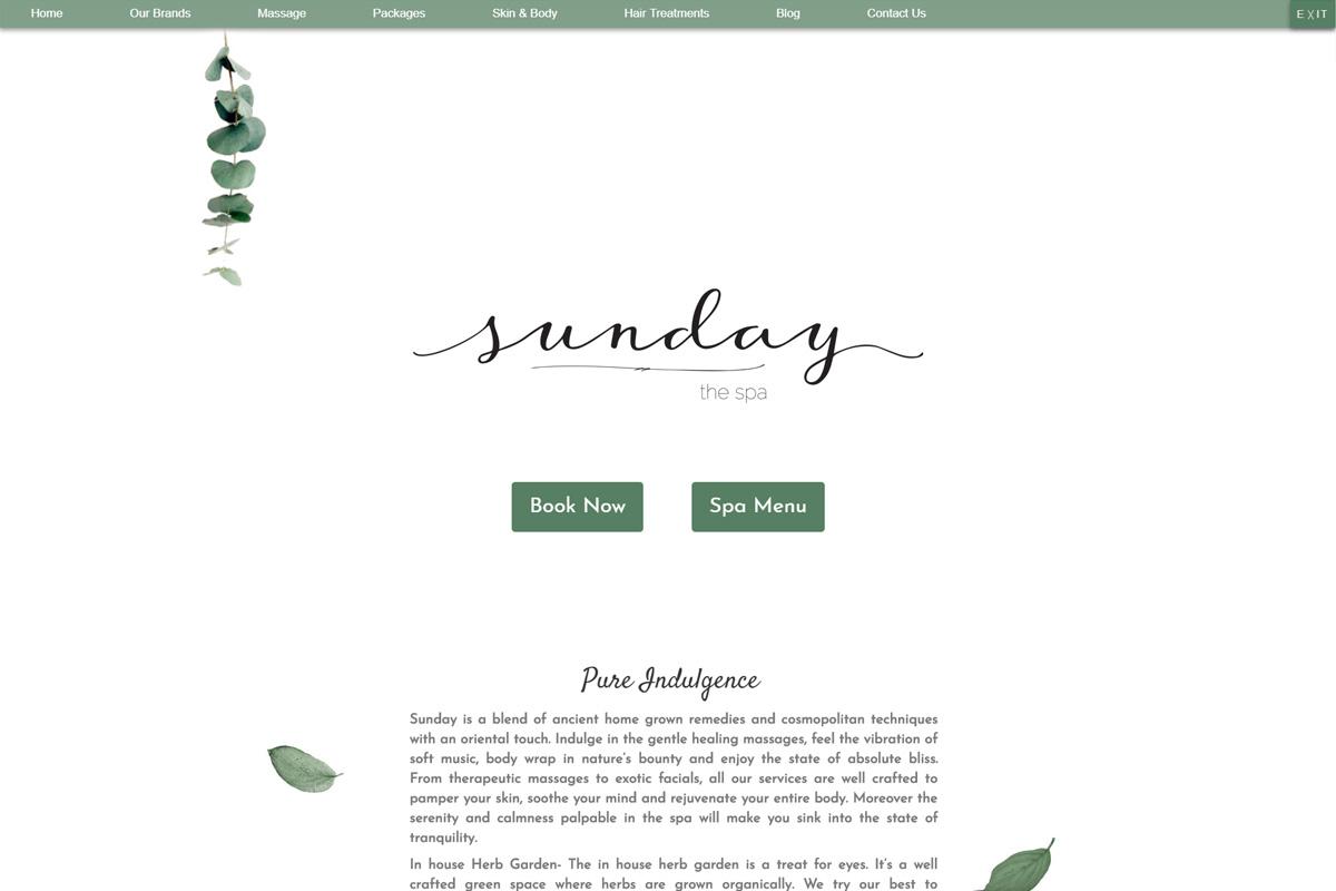 Sunday The Spa