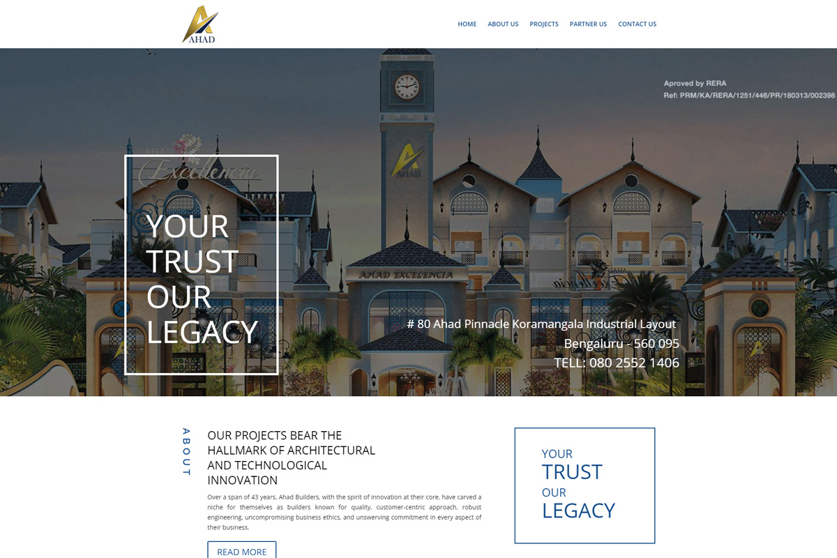 Ahad Builders Website